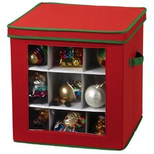 Storage and Organization 27 Piece Holiday Ornament Cube Canvas in Red
