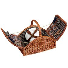 <strong>Household Essentials</strong> Willow Classic Picnic Basket