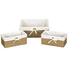 <strong>Household Essentials</strong> Seagrass Large Utility Basket (Set of 3)