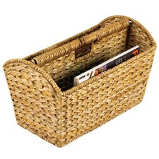 Wicker Banana Leaf Magazine Rack