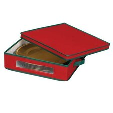 <strong>Household Essentials</strong> Charger Plate Chest in Red with Green trim