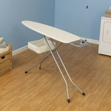 Four Leg Ironing Board with Solid Natural Cover