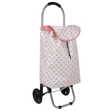 Polka Dot Rolling Shopping Cart