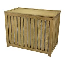 Slatted Oak Laundry Sorter