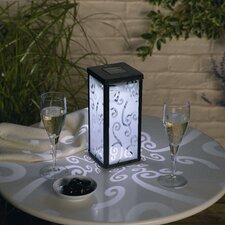 Frosted Scroll Square Solar Lantern