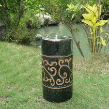 <strong>Smart Solar</strong> Etruscan Ceramic Garden Torch