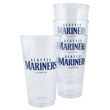 MLB Plastic Pint Cup (Set of 4)