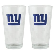 NFL Pint Glass Cup (Set of 2)