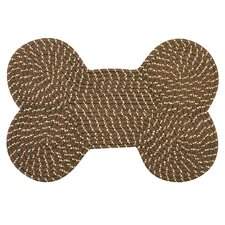 <strong>International Textile Manufacturing</strong> Dog Bone Brown Rug