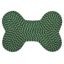 Dog Bone Green Rug