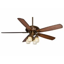 "60"" Holliston™ Gallery 5 Blade Ceiling Fan with Wall Remote"