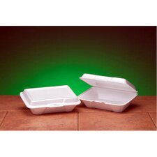 Foam Hinged Carryout Deep Container in White