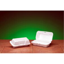 Foam Hoagie Hinged Medium Container in White