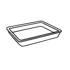 Supermarket Tray in White