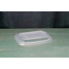 Microwave Safe Rectangular Container Lid in Clear