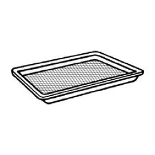 Shallow Supermarket Tray in Black