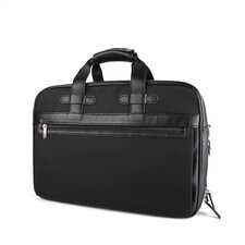 Tribeca Stringer Leather Laptop Briefcase