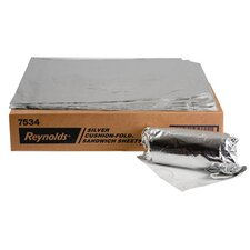 Cushion-Fold Plain Foil Wrap Sheets in Silver