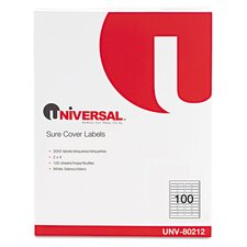 <strong>Universal</strong> Sure Cover Permanent Self-Adhesive Label (1,000 Pack)