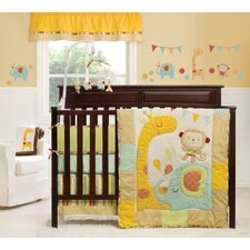 Jungle Friends 3 Piece Crib Bedding Collection