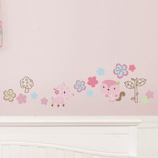 Girl Woodland Wall Decal (Set of 4)