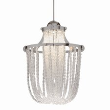<strong>WAC Lighting</strong> Crystal Cascade LEDme Quick Connect 1 Light Monopoint Pendant