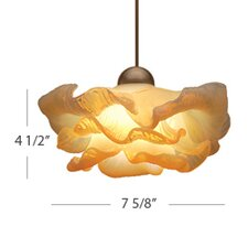 European 1 Light Brittany LED Pendant with Canopy Mount