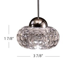 LED Crystal 1 Light Gem LED Pendant with Canopy Mount