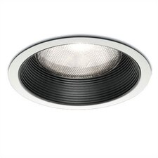 "6"" Line Voltage Recessed Trim with Step Baffle"