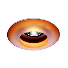 "4"" Low Voltage Etched Glass Ring Recessed Lighting Trim"