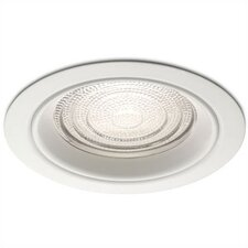 "5"" Line Voltage Recessed Trim for Showers with Regressed Fresnel Lens"
