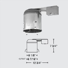 "6"" Line Voltage Non-IC Remodel Housing"