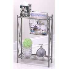Slimline Magazine Rack in Pearl Nickel