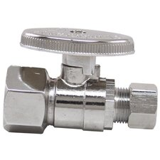 "0.5"" x 0.375"" Low Lead Quick Shutoff Straight Valve"