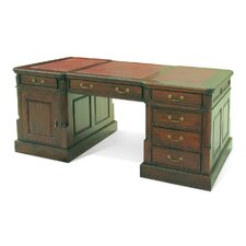 Francesca Partner Executive Desk with Leather Top