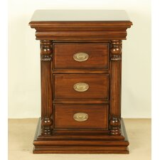Vallerie 3 Drawer Bedside Table