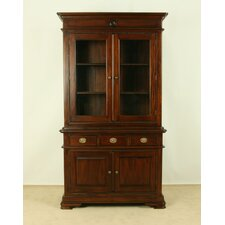 Vanessa 2 Door Display Cabinet in Mahogany