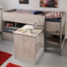 Fabric Mid Sleeper Bunk Bed