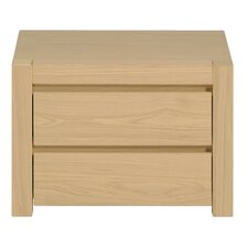 West 2 Drawer Bedside Table