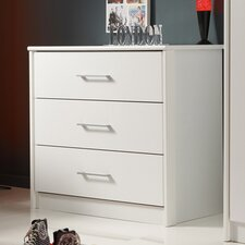 Swan Chest of 3 Drawers