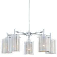 Grid II 5 Light Chandelier