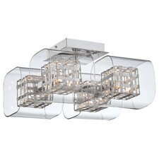 <strong>George Kovacs by Minka</strong> Jewel Box 4 Light Semi Flush Mount