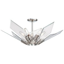 Glassy 5 Light Semi-Flush Mount