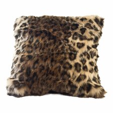 Ocelot Faux Fur Throw Pillow Cover