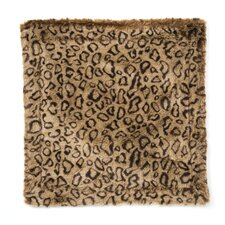 <strong>Posh Pelts</strong> Leopard Faux Fur Pillow Cover