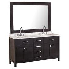 "London 61"" Double Sink Vanity Set"