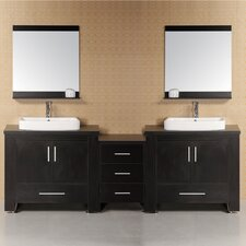 "Washington 96"" Modern Bathroom Vanity Set"