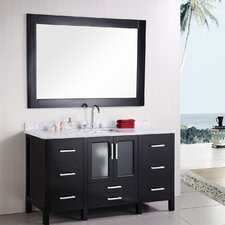 "Stanton 60"" Single Modern Bathroom Vanity Set"