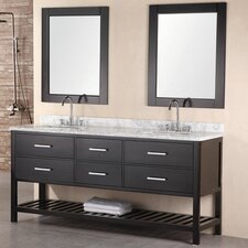"London 72"" Double Sink Vanity Set"