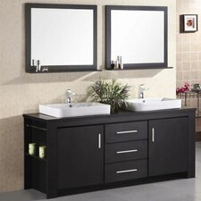 "Washington 72"" Double Bathroom Vanity Set with Mirror"
